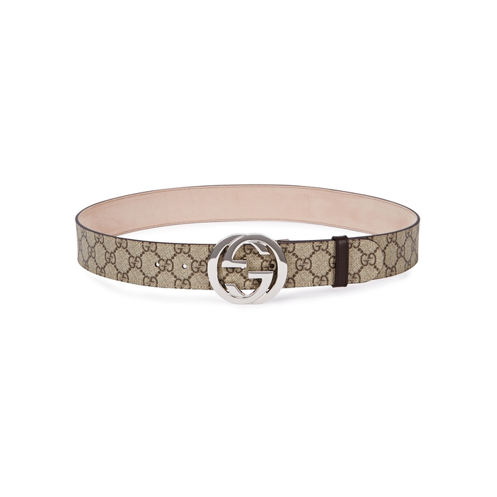 4f4a3e42b Gucci Gg Supreme Monogrammed Belt In Beige | ModeSens
