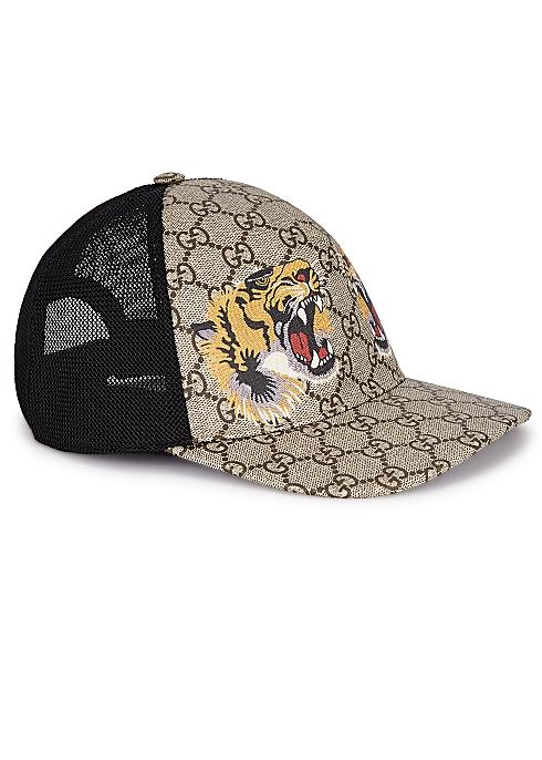 cf1873c50015d0 Gucci GG Supreme monogrammed cap - Harvey Nichols