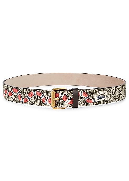 e9db0df18 Gucci GG Supreme monogrammed belt - Harvey Nichols