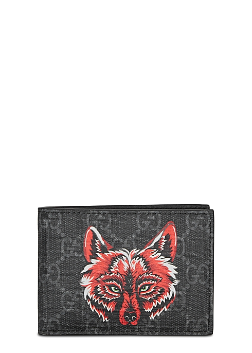 95c18cd28acb Gucci Monogrammed fox-print leather wallet - Harvey Nichols