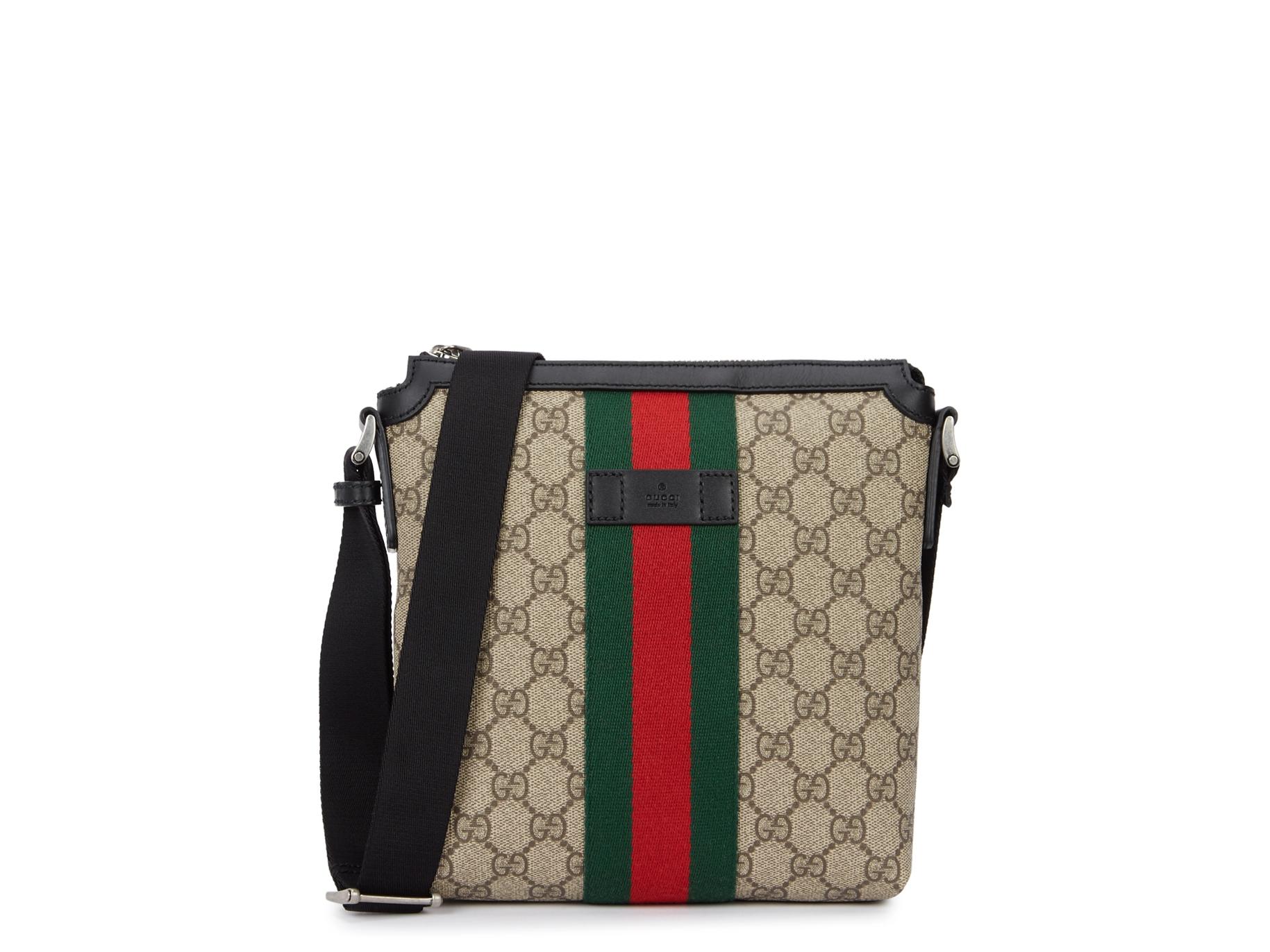 eb96c83122171 Gucci Web GG Supreme canvas messenger bag - Harvey Nichols