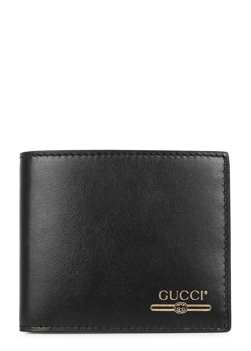 f538562923a Black logo leather wallet Black logo leather wallet. Gucci