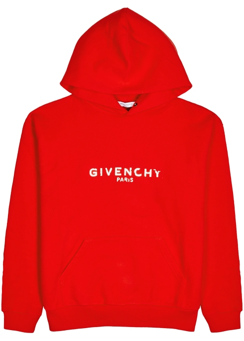 b4ce4a2aead2 Givenchy Logo-print hooded cotton sweatshirt - Harvey Nichols