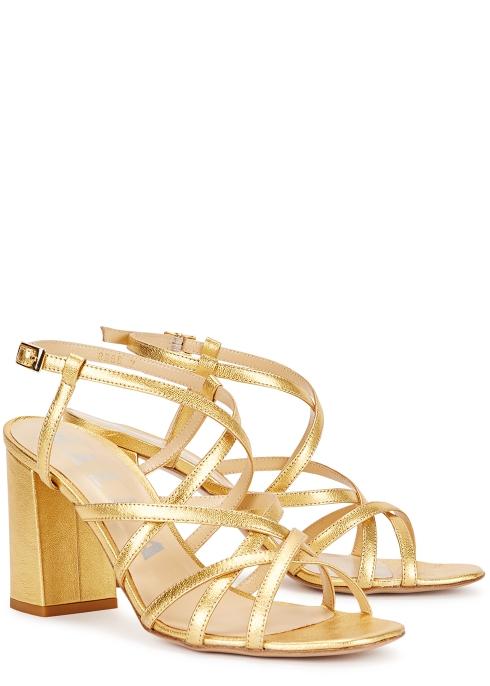 096b1b653 Kalda Pip 85 gold leather sandals - Harvey Nichols