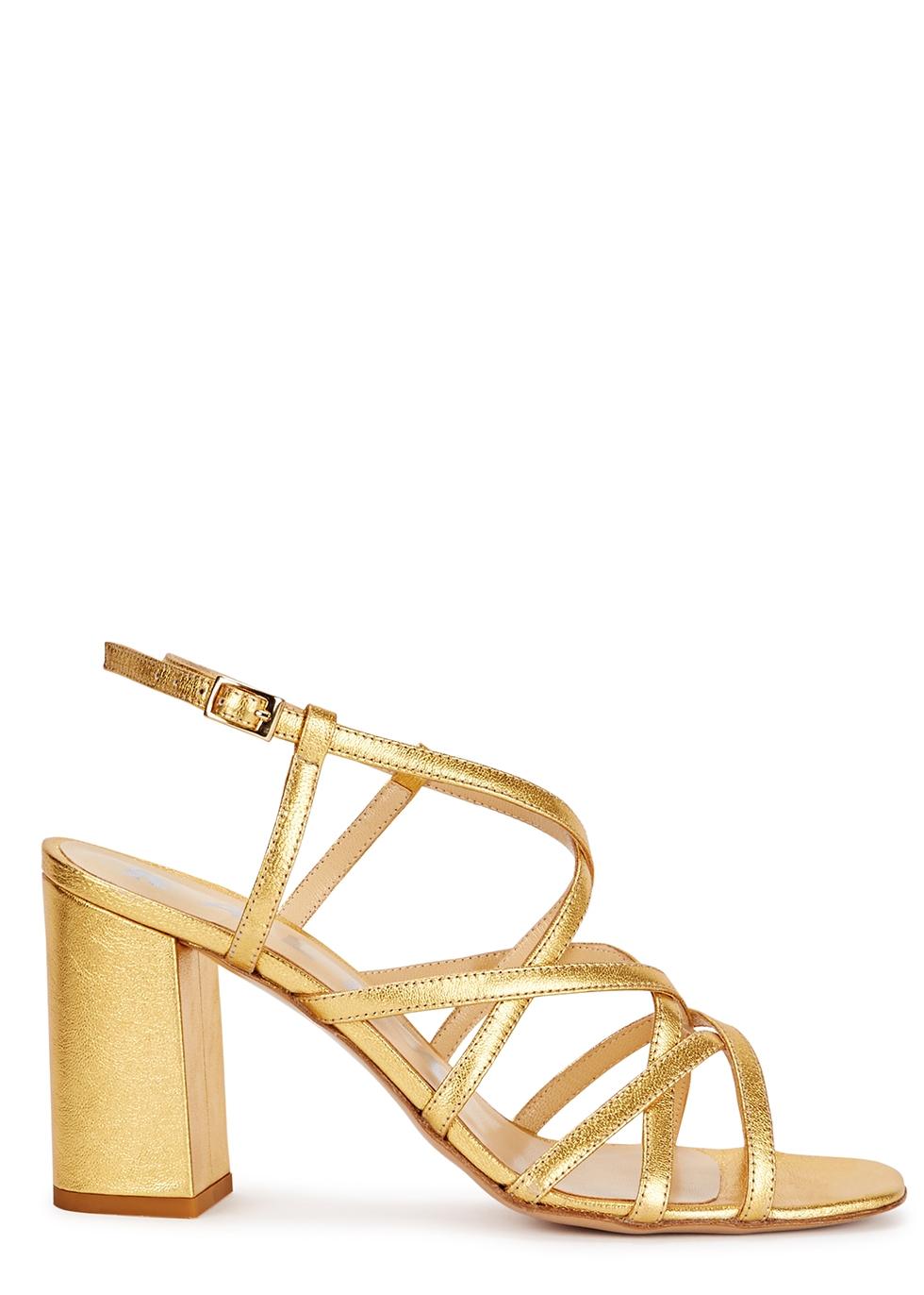 KALDA Pip Gold Leather Sandals