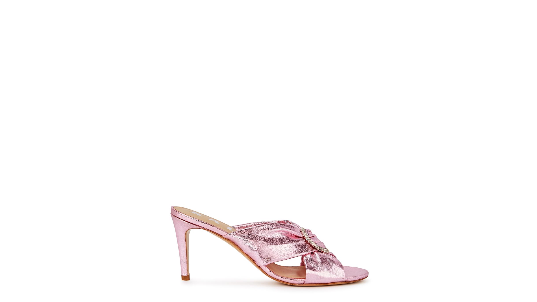 cbdcb532606a Kalda Vasa 85 pink embellished leather mules - Harvey Nichols