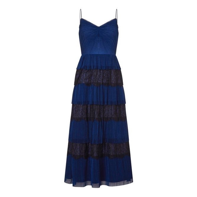 Adrianna Papell CRINKLE POINT D ESPRIT DRESS