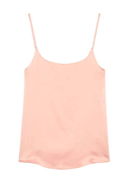 25b8cbe88b89 ASCENO Pale pink silk satin top - Harvey Nichols