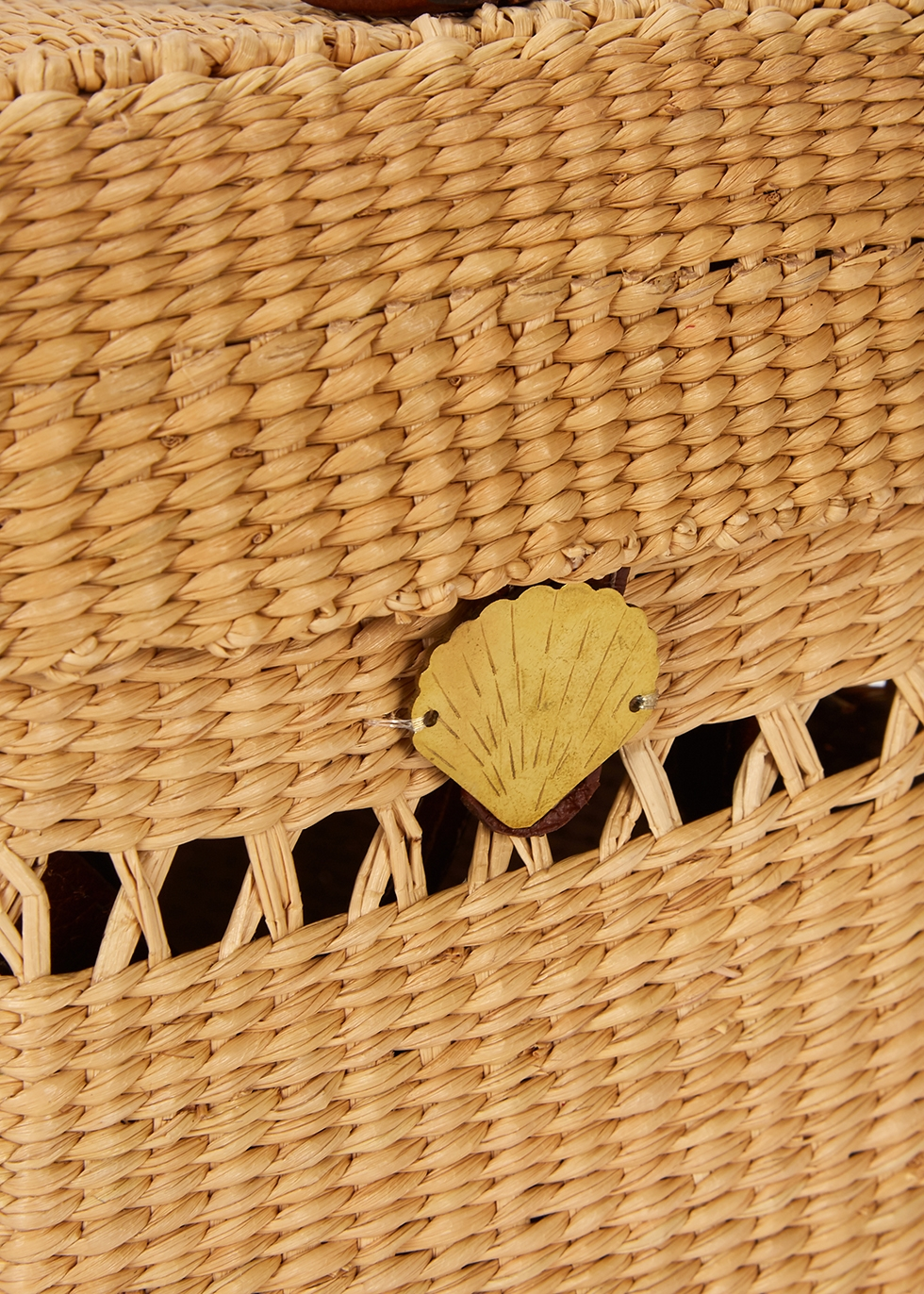 X Loulou De Saison straw box bag - Sensi Studio