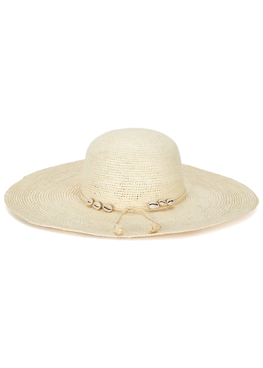 7dbe8ac0309df Lady Ibiza cream straw wide-brim hat