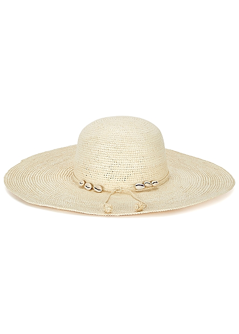 0a852d022fc95 Sensi Studio Lady Ibiza cream straw wide-brim hat - Harvey Nichols