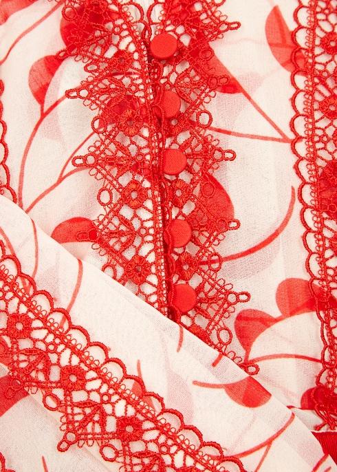 3b4574442324f Self-Portrait Crescent-print chiffon midi dress - Harvey Nichols