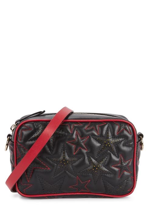 Medium Star Embroidered Cross Body Bag Redv