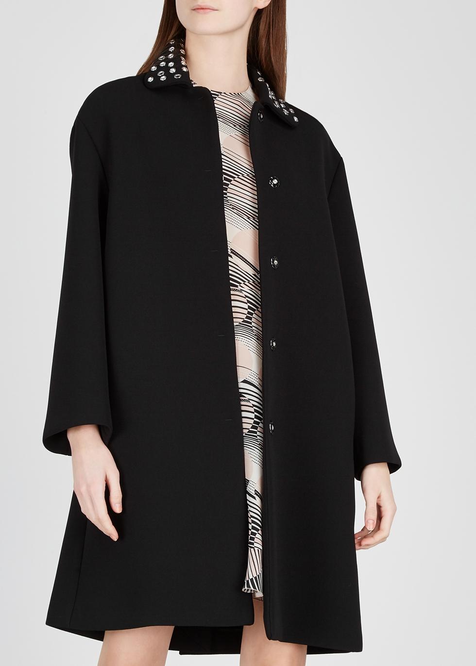 Black embellished cady coat - RED Valentino