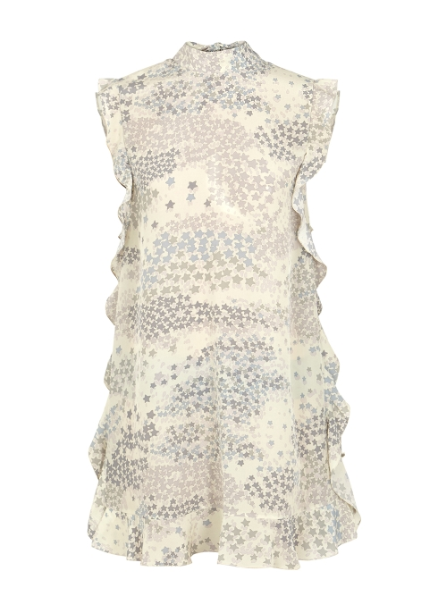 1a1ba33d72f RED Valentino Star-print silk chiffon mini dress - Harvey Nichols