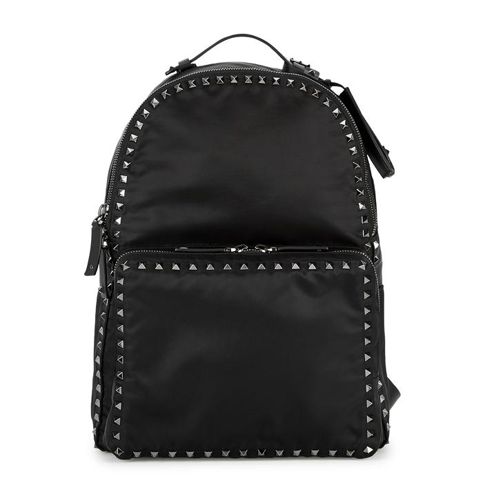 Valentino Garavani VLTN Black Studded Backpack