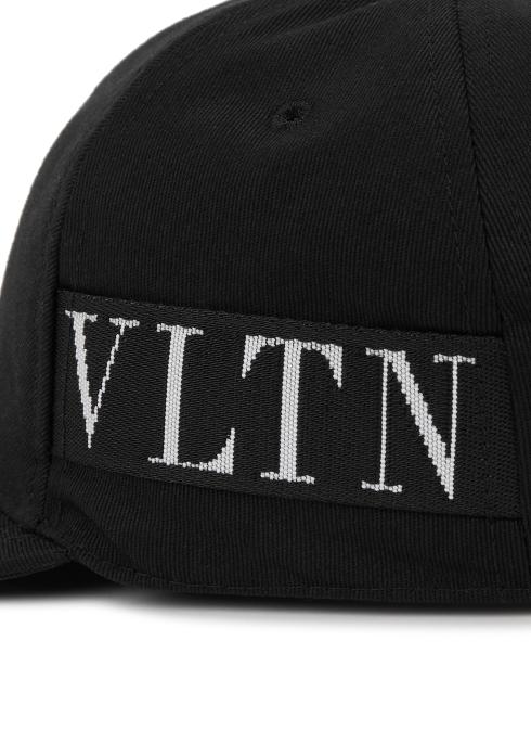 72b0bd5b4e8 Valentino Garavani VLTN black canvas cap - Harvey Nichols