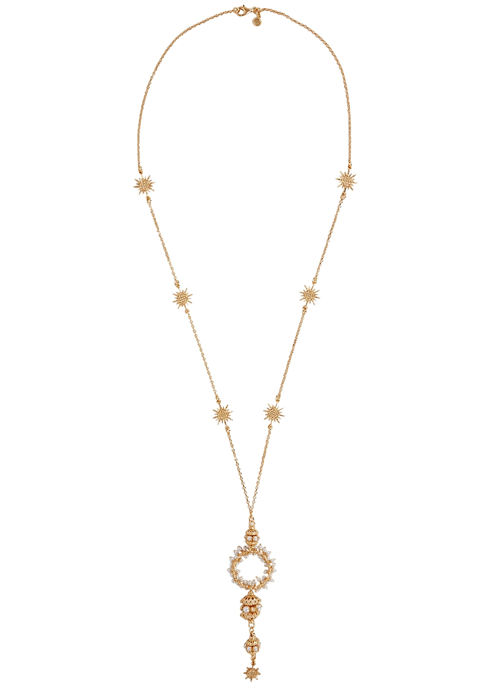 SORU JEWELLERY Elena 24Ct Gold-Plated Vermeil Necklace in Pearl