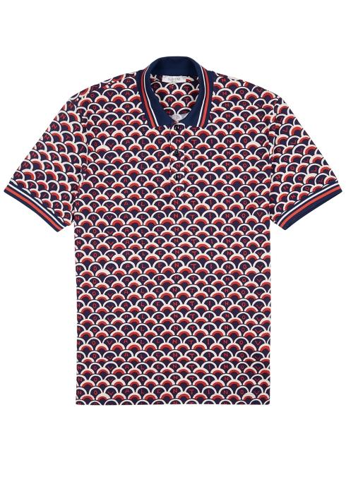 780a5fcf4 Valentino Printed piqué cotton polo shirt - Harvey Nichols