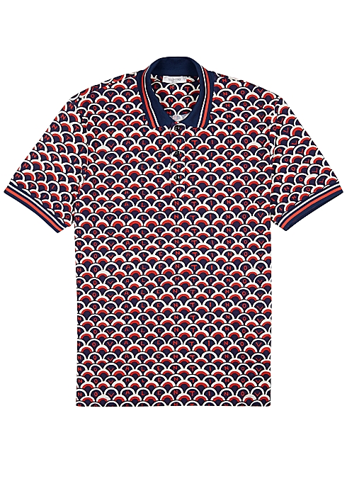 8d93be7a Valentino Printed piqué cotton polo shirt - Harvey Nichols