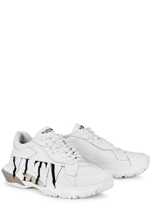 05ec21fc155a1 Valentino Garavani VLTN Bounce white leather trainers - Harvey Nichols