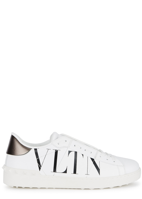 0686ac9aabbe Valentino Garavani VLTN white leather trainers - Harvey Nichols