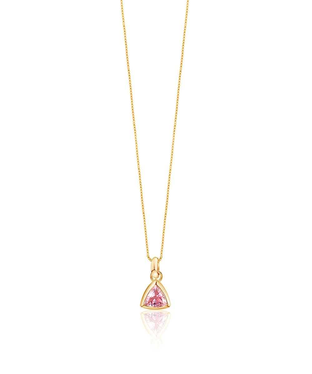EDGE OF EMBER Pink Tourmaline Charm Necklace