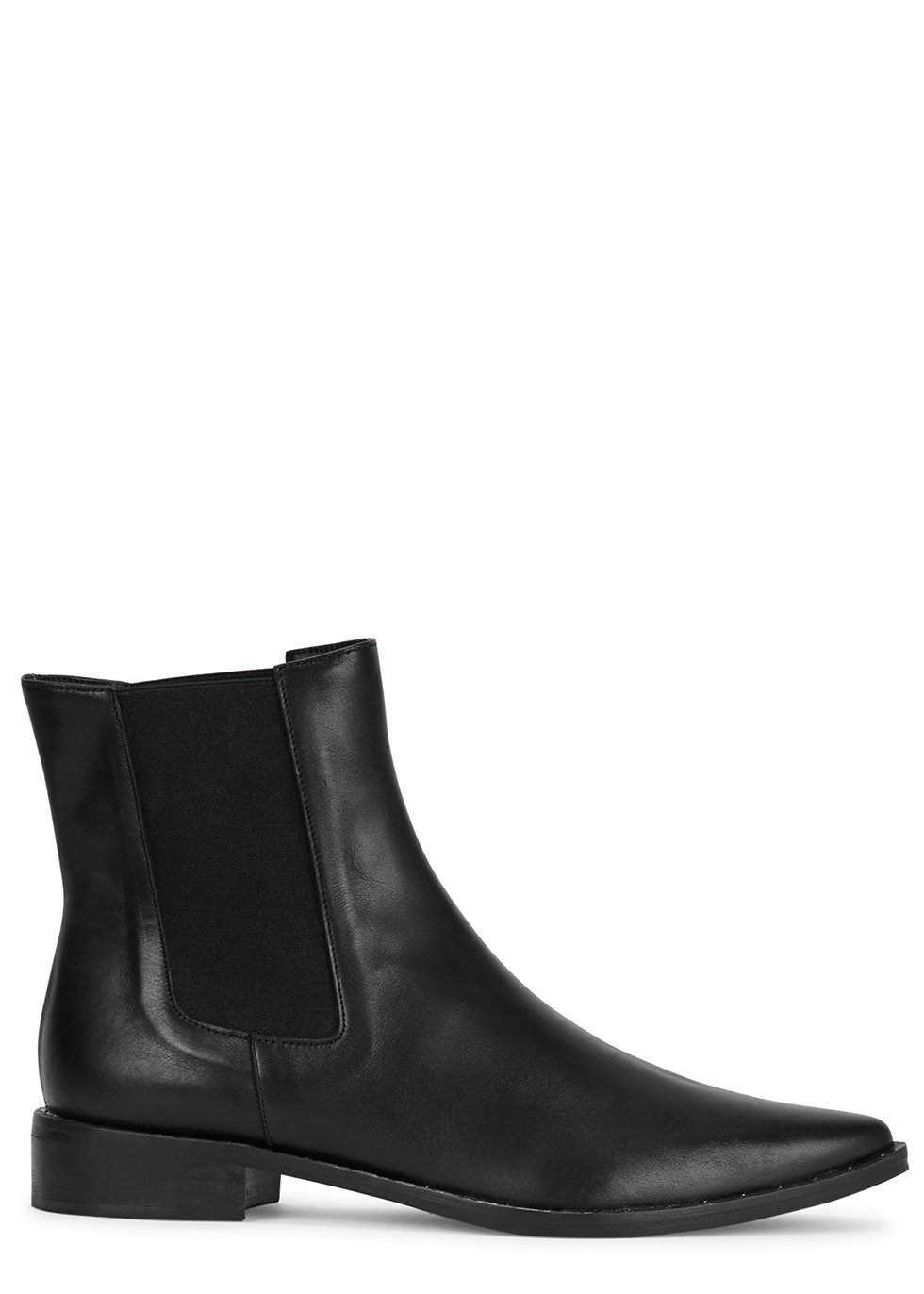 FREDA SALVADOR Joan Black Leather Chelsea Boots