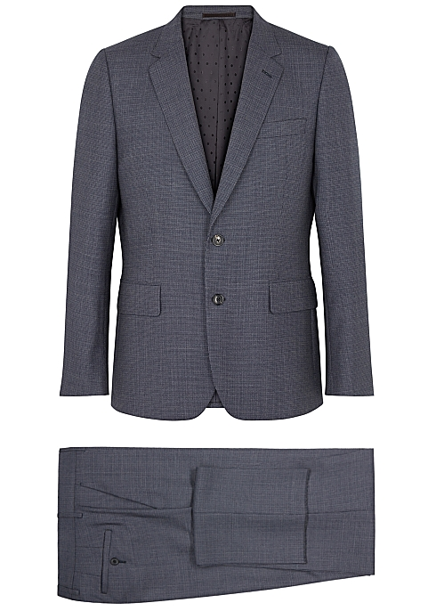 832a48fc3e8bd0 Paul Smith Navy checked slim-fit wool suit - Harvey Nichols