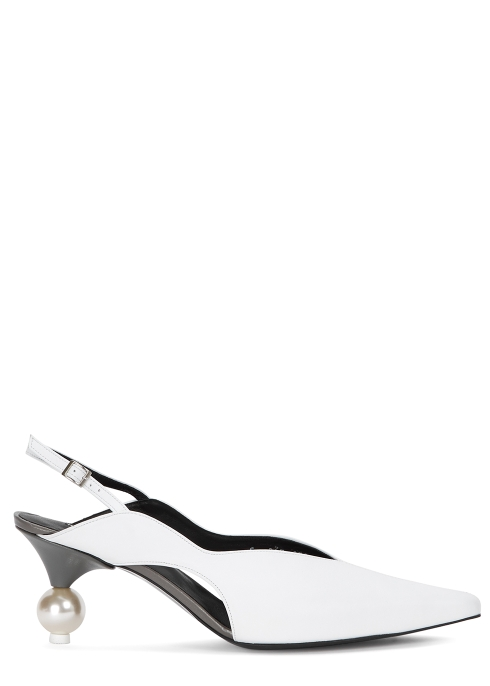 871161a3c23 Yuul Yie Doreen 70 white leather pumps - Harvey Nichols
