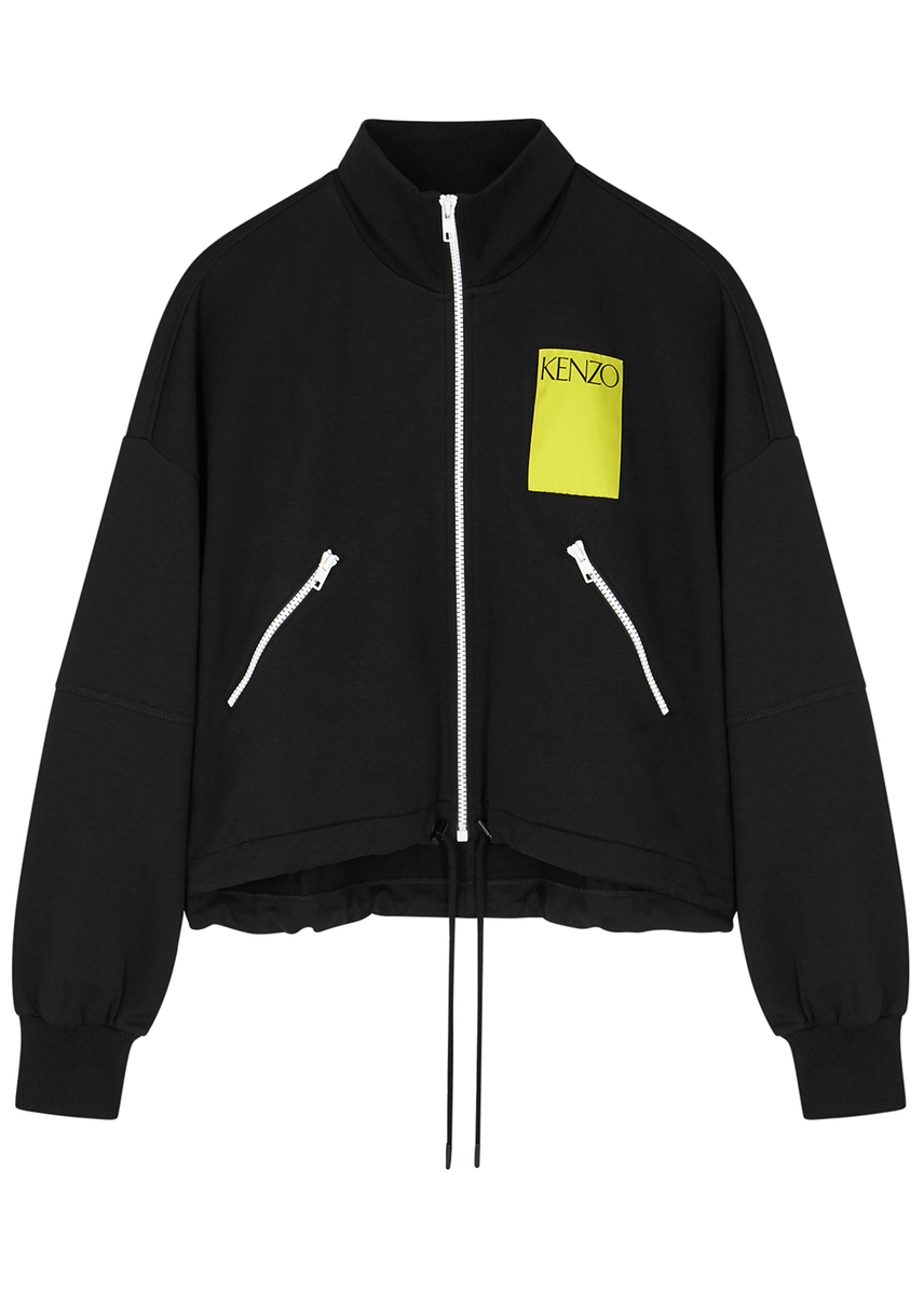 19304d3b1d0c Black stretch-cotton sweatshirt ...
