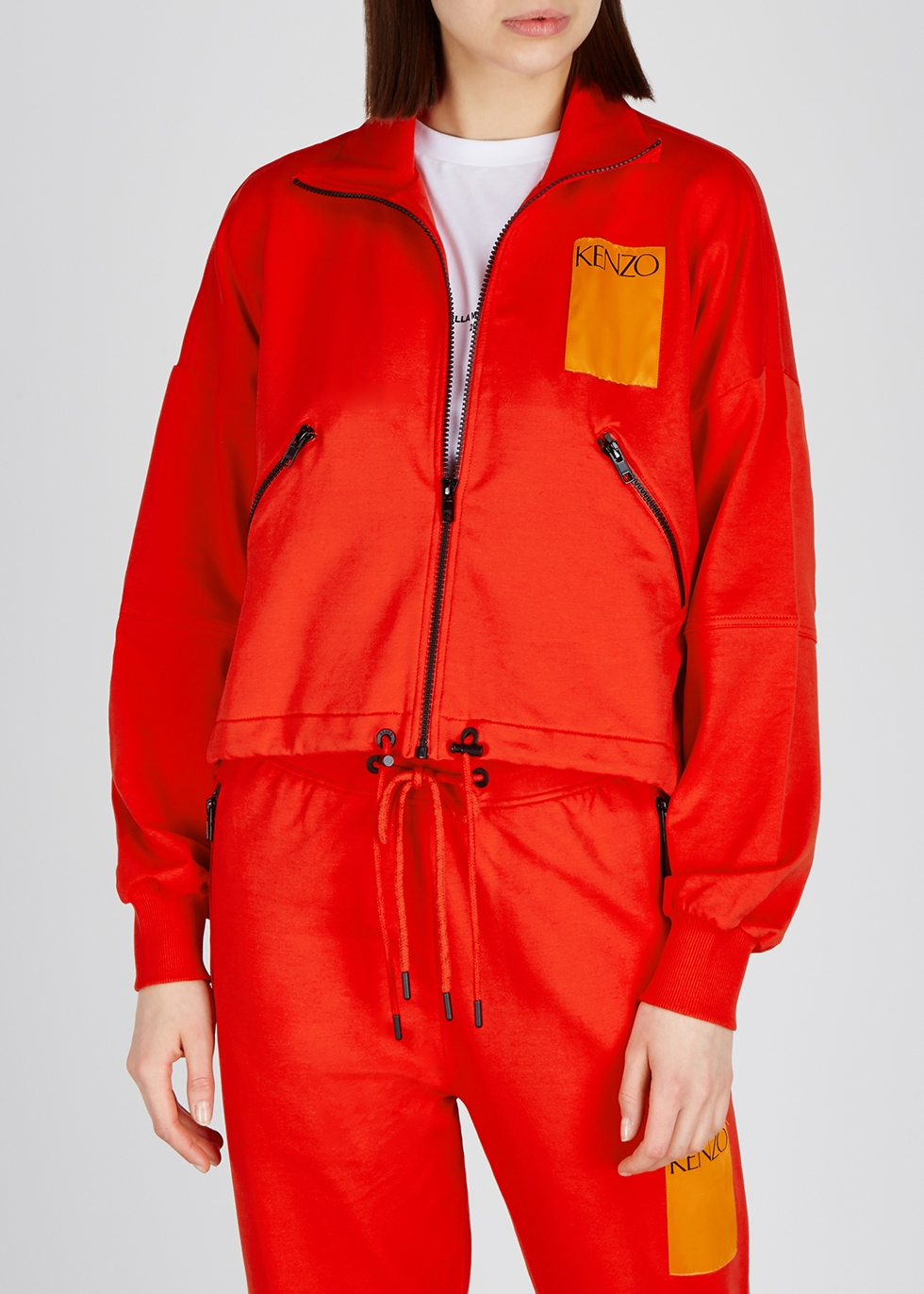 Red stretch-cotton sweatshirt - Kenzo