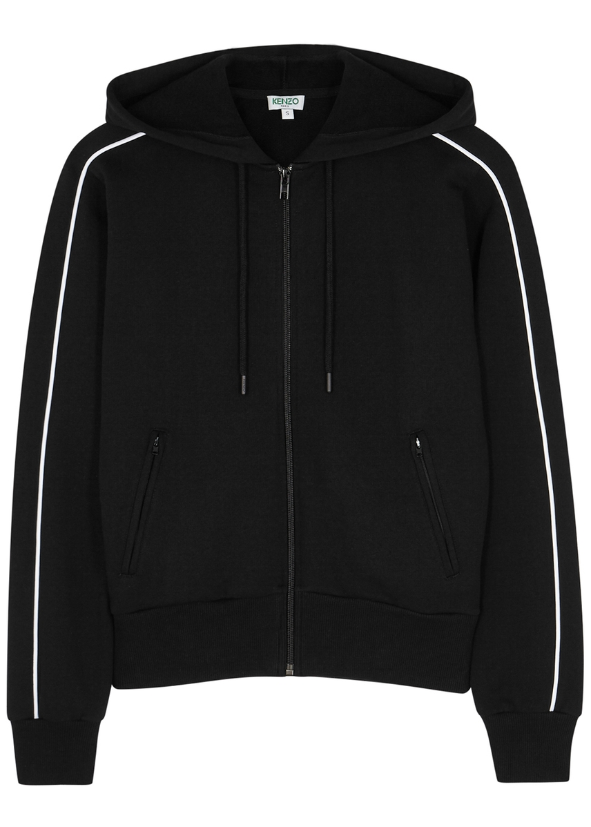 25dae6ed97c Black hooded cotton sweatshirt ...