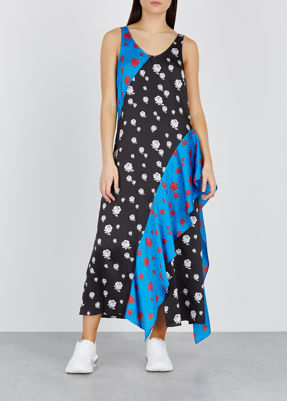 Floral-print satin dress - Kenzo