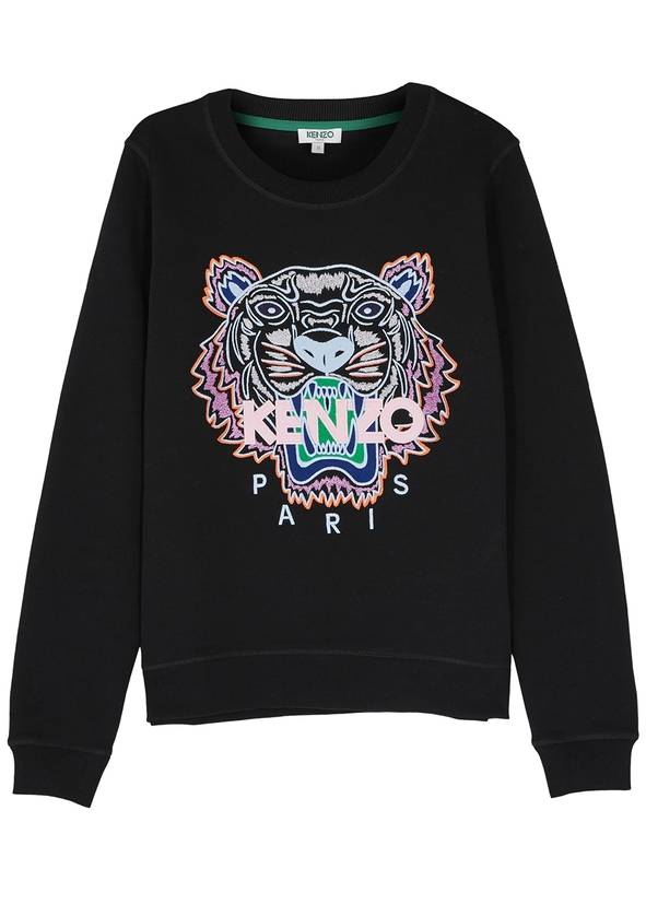 Tiger-embroidered cotton sweatshirt ... 9f06aebd16e7