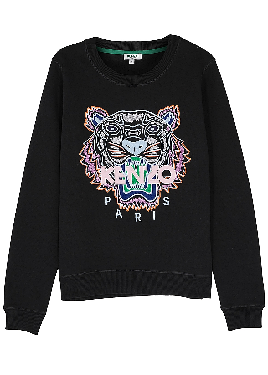 d778e32d9 Tiger-embroidered cotton sweatshirt Tiger-embroidered cotton sweatshirt.  Kenzo