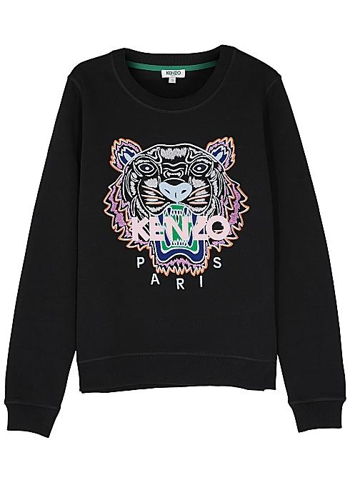 7749155c262 Kenzo Tiger-embroidered cotton sweatshirt - Harvey Nichols