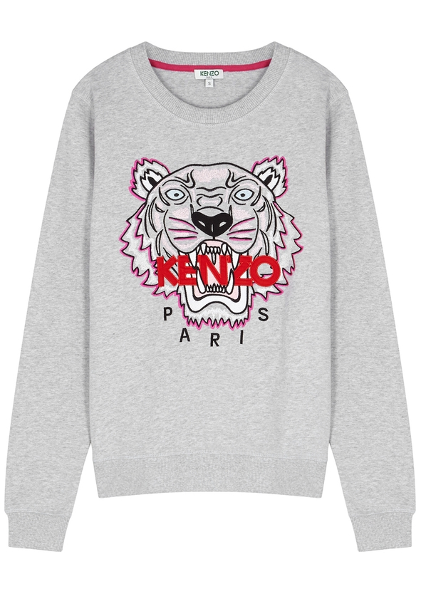 Tiger-embroidered cotton sweatshirt ... 20032854fa