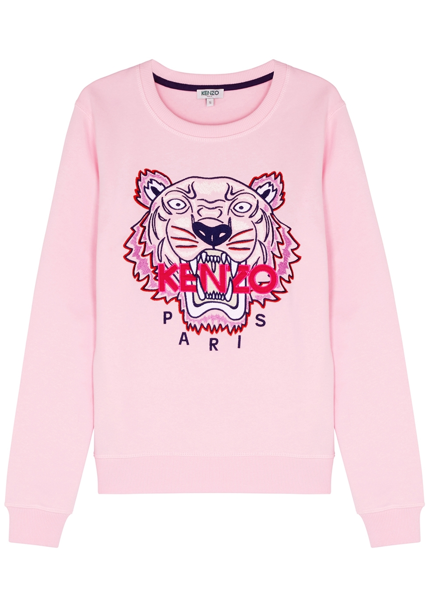 8e9f5d8d466 Tiger-embroidered cotton sweatshirt ...