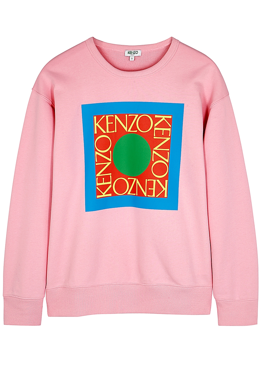 d53d62723 Square Logo pink cotton sweatshirt Square Logo pink cotton sweatshirt. Kenzo