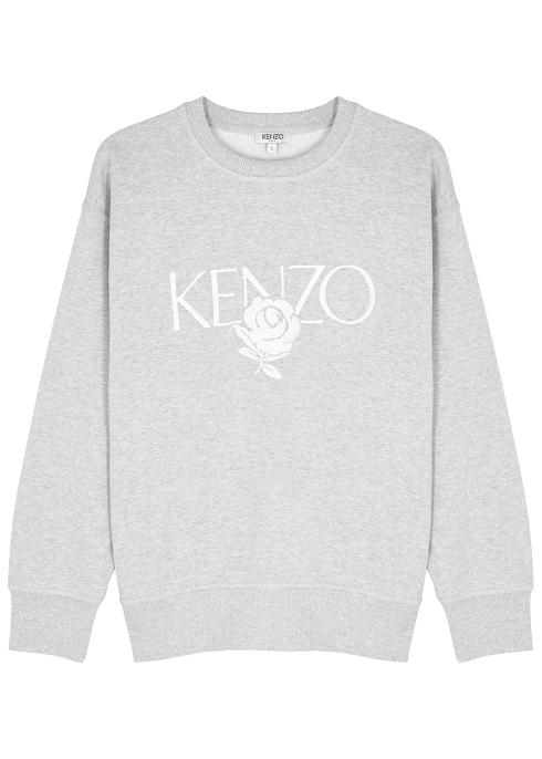 2de7c6e0e Kenzo Grey logo-embroidered cotton sweatshirt - Harvey Nichols