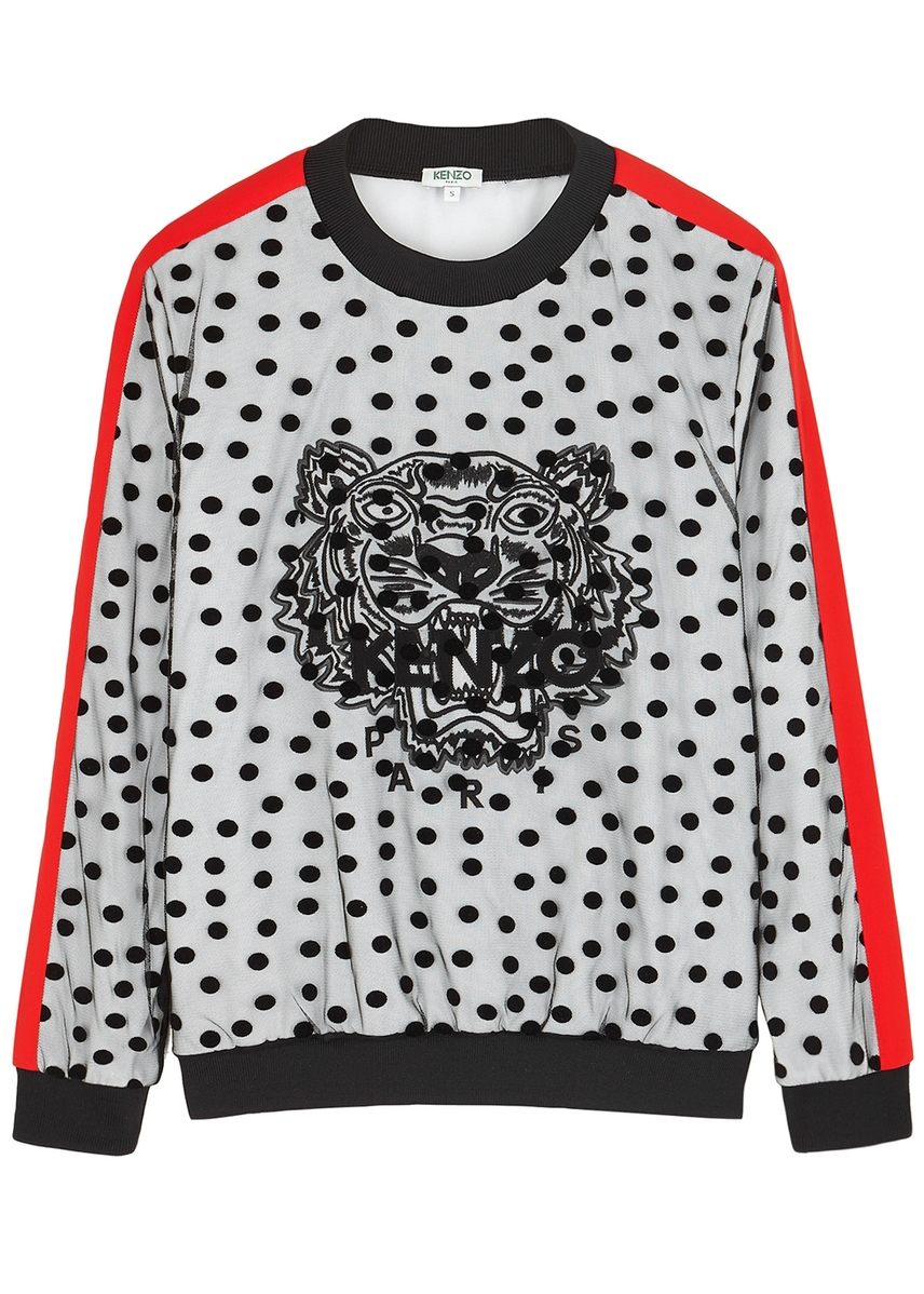 ea6c58cf6b7 Flocked tiger-embroidered sweatshirt Flocked tiger-embroidered sweatshirt.  Kenzo