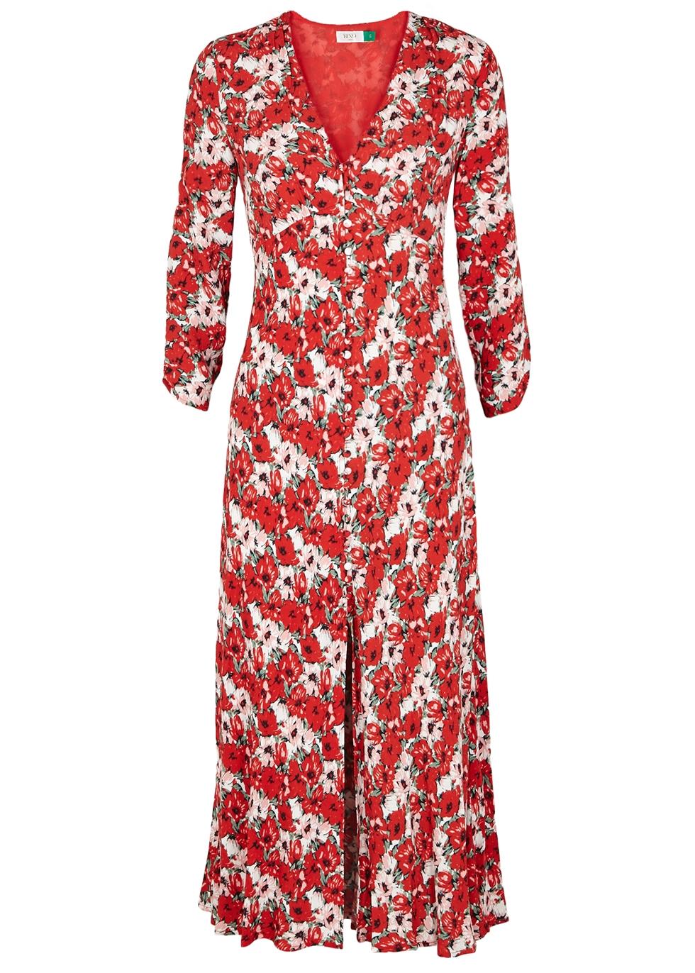 Katie floral-print midi dress - RIXO