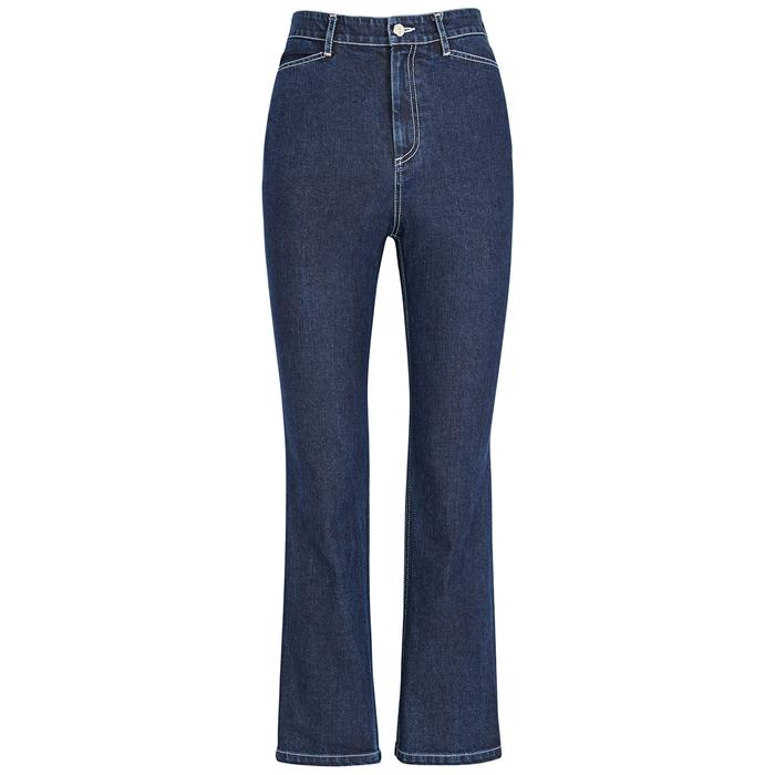 Rosetta Getty Jeans DARK BLUE KICK-FLARED JEANS