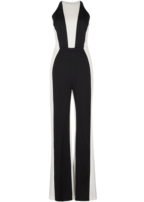 3b173ab1ed1 Galvan Marlene monochrome satin jumpsuit - Harvey Nichols