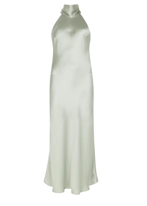 5b877b98c9a Galvan Sienna halterneck silk gown - Harvey Nichols