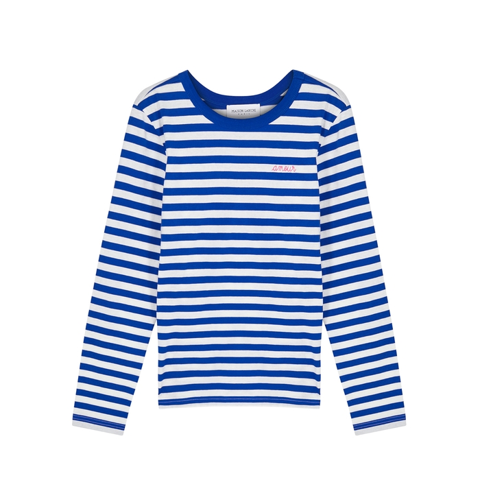 Maison Labiche AMOUR STRIPED COTTON TOP