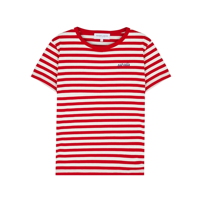 Maison Labiche PARADIS STRIPED COTTON T-SHIRT
