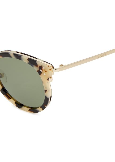 d6e7ac24a0 Celine Tortoiseshell round-frame sunglasses - Harvey Nichols