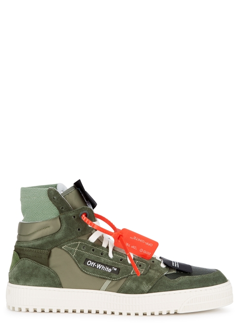 """09df7c92b94023 Off-White """"Off-Court"""" 3.0 army green suede hi-top trainers - Harvey ..."""